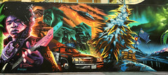 Bud Across America by Gear Duran (wiredforlego) Tags: graffiti mural streetart urbanart aerosolart publicart lasvegas las vegas nevada gearduran