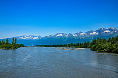 Lowe River (http://fineartamerica.com/profiles/robert-bales.ht) Tags: alaska forupload places projects river riverstreams scenic toworkon mountain tourist outdoors landscape nature usa vacation tranquil valley tourism beautiful peaceful horizontal riverbed driedup cold travel mountains relaxing gold mining braidedriver streams sand water slow braided scenery robertbales lowe loweriver desertedglacier slacier princewilliamsound valdez