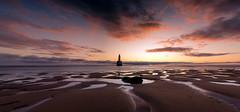 Sunrise at Rattray head (PeskyMesky) Tags: rattrayhead lighthouse aberdeenshire scotland sunrise landscape longexposure panorama pano red sky beach sand canon canon5d eos
