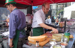Raclette cheese stall at Bolton Food Festival 2019 (Tony Worrall) Tags: bolton boltonfoodfest boltonfoodfestival festival foodie eat food show event annual stalls make streetfood north update place location uk england visit area attraction open stream tour country item greatbritain britain english british gb capture buy stock sell sale outside outdoors caught photo shoot shot picture captured ilobsterit instragram raclette candid cheese