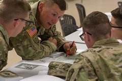 Charlie Co., 3rd Regiment Advanced Camp, Land Navigation Written (armyrotcpao) Tags: cst2019 3rdregiment advancedcamp cadetsummertraining cadets classroom exam landnavigation learning map testing written