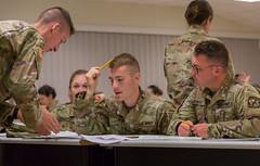 Charlie Co., 3rd Regiment Advanced Camp, Land Navigation Written (armyrotcpao) Tags: cst2019 3rdregiment advancedcamp cadetsummertraining cadets classroom exam landnavigation learning map testing written