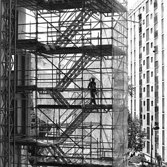 Transparency (pascalcolin1) Tags: paris13 homme man escaliers stairs transparence transparency photoderue streetview urbanarte noiretblanc blackandwhite photopascalcolin 50mm canon50mm canon lumière light immeuble building