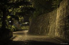Castle Buda entrance - Budapest (gergely.t.springer) Tags: budapest hungary buda castle magyarország night nikon d3500 f18 50mm longexposure wall dark