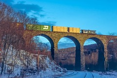 Golden Hour at Starucca (douglilly) Tags: conrail lanesboro caboose