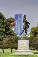 US MD Baltimore - Fort McHenry National Monument - Statue of Orpheus (David Pirmann) Tags: maryland baltimore fortmchenry warof1812 francisscottkey nationalregisterofhistoricplaces nationalpark nrhp66000907 orpheus charleshenryniehaus