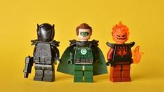 Alternate Evil (th_squirrel) Tags: lego dc comics arkham knight red hood jason todd parallax green lantern hal jordan firestorm earth 3 three deathstorm minifig minifigure minifigures minifigs