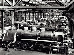 Tientsin Pukow Railway (China) - 2-10-2 steam locomotives under construction at the Alfred Krupp Locomotive Works, Essen (HISTORICAL RAILWAY IMAGES) Tags: krupp steam locomotive eisenbahn dampflok china train tientsin pukow railway 2102 津浦铁路