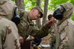 Delta Co., 3rd Regiment Advanced Camp, CBRN (armyrotcpao) Tags: cst2019 cbrn cadetsummertraining cadets chemical forest gas june training