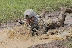 4th Regiment, Advanced Camp Cadets, Buddy Team Live Fire (armyrotcpao) Tags: cst2019 advancedcamp armyrotc cadetsummertraining ftknox blankrifle buddyteamlivefire lowcrawl mockgrenade mud running