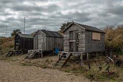 Fishermens Huts (Geoffrey Tibbenham) Tags: fishermenshuts suffolk seaside clouds coast countryside single pakefield timber sheds steps beach beachhuts sky outdoors overcast openspace fuji xt2 23mm f2