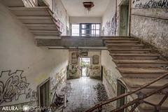 (kuronadargarth) Tags: urbex ruins hospital mental asylum abandoned derelict poveglia venice laguna island haunted ghosts paranormal supernatural graffiti stairs staircase