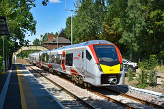 755410 - Brundall - 29/07/19. (TRphotography04) Tags: greater anglia stadler flirt bimode 755410 departs brundall with 2p20 1236 norwich great yarmouth service