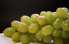 Bunch of green grape isolated on a plate on a black background (estrol0st) Tags: grape berry background bunch fruit isolated green leaf food fresh vine autumn nature health juice dessert healthy sweet white pip tendril delicious nutrition bright summer ripe diet cluster clipping branch red path group black summertime small big grapeisolated grapevine taste muscat leaves greengrape sprig winery grapeisolatedonwhite natural violet cardinal water