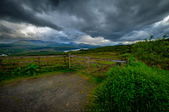 Dead End in scotland (dannygreyton) Tags: scotland clouds fujifilmxt2 fujifilm fence england europe deadend dramaticsky roadtrip highland