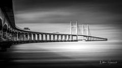 The Prince Of Wales Bridge (Nathan J Hammonds) Tags: bridge severn clouds water movment mono monochrome black white long exposure nikon lee filters 10stop nd filter d850