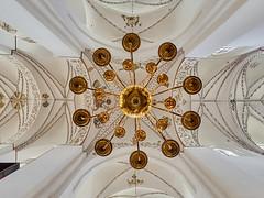 Chandelier (Ulrich Neitzel) Tags: aarhus architecture architektur aufwärts candelier chandelier church gewölbe interior kirche kronleuchter leuchter mzuiko918mm olympusem1 upwards vault