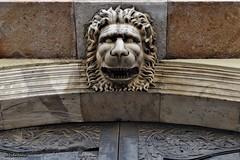 Cara de pocs amics. (AviAntonio) Tags: porta escultura lleó puerta león barcelona