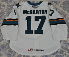 John McCarthy (opurt2007) Tags: sanjosebarracuda barracuda barracudatrout gameworn ahl 201819 mccarthy johnmccarthy