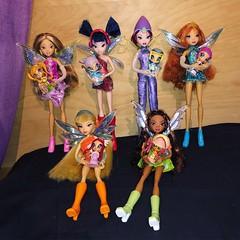Winx Pixie Magic dolls Collection (Sakura MoonlightCandyAngel) Tags: aisha layla tecna musa flora stella bloom doll mattel winx