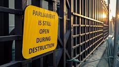 It's A Sign (Sean Batten) Tags: london england unitedkingdom westminster parliament sign brexit fujifilm x100f streetphotography street