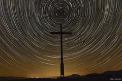 the cross (peter-goettlich) Tags: stars startrail shootingstar cross landscape nightscape outdoor night mountain peak