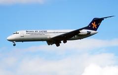 N128GE / 9Q-CDT  McDonnell Douglas DC9-32  Bravo Air Congo (n707pm) Tags: n128ge dc9 dc932 mcdonnelldouglas airport airline aircraft airplane einn snn coclare ireland scanfromaslide bravoaircongo delivery shannonairport 25082006 cn48128