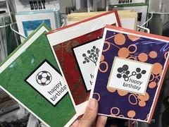 New birthday cards (artnoose) Tags: tree olive purple green ball soccer west market bowl berkeley cards card happy birthday letterpress