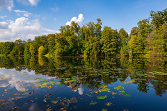 Change of Seasons (gubanov77) Tags: nature september blue seasons pond water moscow russia reflection relax kuzminki park landscape shibaevskypond