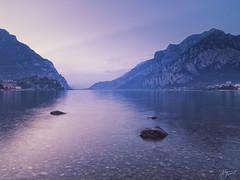 Lago di Lecco (A. Shamandour) Tags: lago lake lecco como italy mountains hasselblad sky clouds reflections cityscape river lights aqua montangne citta natura