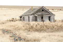 Distant Past (garshna) Tags: abandoned house equipment homestead field outdoors landscape building