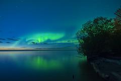 Early Aurora (Len Langevin) Tags: auroraborealis northernlights night sky northernalberta slavelake longexposure nikon d7100 tokina 1116