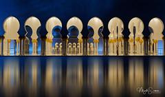 Reflective pool (marko.erman) Tags: grandmosque abudhabi sheikhzayed unitedarabemirates islamicart mosque architecture beautiful arches columns arcades pool water reflections nightshot illuminations sony travel popular outside outdoor