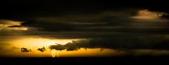 Lightning Strikes (Graeme O'Rourke) Tags: storm lightning lightningstrikes bassstrait nature clouds water national sea rain yellow black ocean display light inexplore