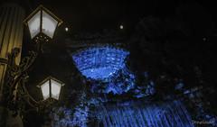 Fountain or Dimension gate? (gergely.t.springer) Tags: budapest hungary magyarország capital donau duna city night nikon d3500 elizabethbridge fountain blue lights nightlight