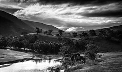 Licola View # 2 (Redux) (Graeme O'Rourke) Tags: licila glenfallochstation mountainview victoria australia blackandwhite bw national landscape nature clouds trees