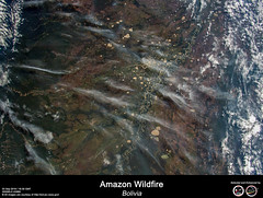 Amazon Wildfire - Bolivia (RikyUnreal) Tags: iss expedition60