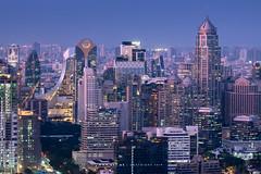 Ploenchit and Wireless Road (imageofbangkok) Tags: bangkok bangkokcityscape banyantree banyantreebangkok banyantreebangkokhotel centralembassy cityscape krungsriploenchittower parkventuresecoplex rooftopbar sindhorntower twilight vanitbuilding vertigomoonbar viewpoint