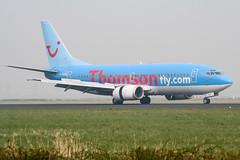 G-THON (PlanePixNase) Tags: amsterdam ams eham schiphol planespotting airport aircraft thomson boeing 737 737500 b735