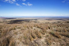 Elevated View towards Spencer Gulf (oz_lightning) Tags: 4wd australia canon6d canonef1635mmf4lis sa spearcreek cars ecology grassland landscape nature track water southaustralia southernflindersranges