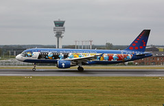 Brussels Airlines A320-214 OO- SND The Smurf Livery landing at Zaventem août 2019  2019-08-17 08-42-52  - G55A1953 - mod et signe (vincent.lempereur) Tags: airbus bru~airport bru airbusa320 brusselsairlines brusselsairport plane avion