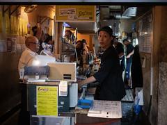 grilled tripe bar (kasa51) Tags: bar grilledtripe offal people yokohama japan もつ焼き ホルモン焼き 居酒屋 motsuyaki
