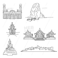 Thailand famous outline landmarks (Hebstreits) Tags: aonang architecture asia asian background bangtong beach buddha building chinesetemple city design exterior famous flat icon illustration island kolanta landmark landmarks landscape line malaysia monument mosque oldtown outline pagoda phiphi province railay rock silhouette statue symbol temple thai thailand tigercave tourism tower travel trip tropical vacation vector vietnam world