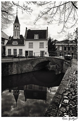 Amersfoort 1 (Rien Gieltjes Captured by R) Tags: approved amersfoort architecture architektur monochrome blackandwhite building black bridge bw brucke brick brug netherlands nikon nikkor national lines fineart holland cities city curves clouds cityscape church utrecht thenetherlands white windows wall artwork art artist artistic canal