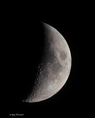 Waxing Crescent Moon (RayTheriault) Tags: moon nikon nikond810 newhampshire nature night sigma 150600mm 50 60 70