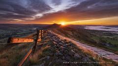 Great Ridge sunrise (John Finney) Tags: uk england landscape highpeak dark mamtor hill idyllic castleton northwestengland photography nopeople derbyshire sunrise nationalpark greatridge unitedkingdom