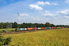 Bardowick ELL WLC 193 xxx Container (Wolfgang Schrade) Tags: vectron wlc wienerlokalbahncargo br193 kbs110 container containerzug bardowickbruch zug eisenbahn