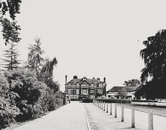 Alvaston Hall (daveandlyn1) Tags: buildings timberframed hotel alvastonhall warnerleisure trees blackandwhite road pathway footpath bollards pralx1 p8lite2017 huaweip8 smartphone psdigitalcamera cameraphone