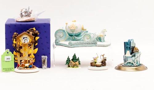 Olszewski Disney Collections, Lot of 6  Includes Fantasia Living Brooms, Cinderella's Coach ($235.20)