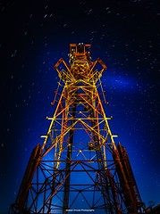 Reach for the stars... (josephzmuda2) Tags: nightphotography summer sky color tower architecture night skyscape pittsburgh nightscape pennsylvania structure architectural astrophotography northamerica starscape longexposure perspective soe